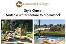 Style Game: Water Features and Hammocks / Which hammock would you pair with these water features designed by The Family Handyman?   For DIY tutorials visit www.thefamilyhandyman.com