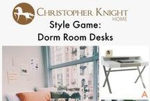 Style Game: Desks / Which desk would you pair with this dorm room found on Stylecaster?