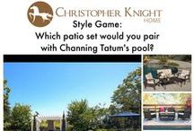 Style Game: Channing Tatum's Pool / Which patio set would you pair with Channing Tatum's pool?