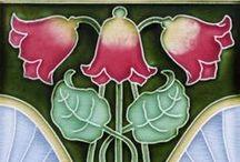 Art deco/Art nouv. - Tiles (kakel) / ca 1890 - 1910