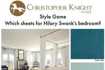 Style Game - Hilary Swank's Bedroom / Which sheets would you pick for Hilary Swank's lovely former Pacific Palisades bedroom?