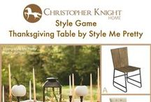 Style Game: Thanksgiving Table / Which chair would you pair with this Thanksgiving table designed by Style Me Pretty?