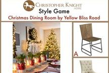 Style Game: Christmas Dining Room by Yellow Bliss Road / Which chair would you pair with this dining table by Yellow Bliss Road? http://www.yellowblissroad.com/christmas-home-tour-2014/