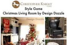 Style Game: Christmas Living Room by Design Dazzle / Which chair would you pair with this festive holiday living room designed by Design Dazzle?  http://www.designdazzle.com/2014/12/its-the-most-wonderful-time-of-the-year-home-tour/