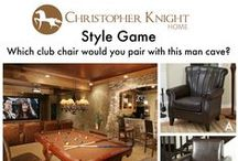 Style Game: Man Cave / Which club chair would you pair with this man cave?