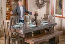 Dining Room: French Style / Dining rooms with French influences, from rustic to ornate. For more dining room ideas, click here: http://christopherknighthome.com/2016/03/09/creative-dining-room-designs/