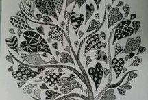 zentangle : pen illustration