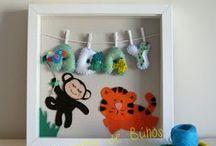 CUADROS / Cuadros hechos a mano para bebés y niños