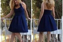 navy blue / inspiration for a dress