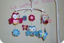 MÓVIL CUNA / Móviles de cuna personalizados para cada bebém, cada mamá y cada decoración. Crib owl's mobile
