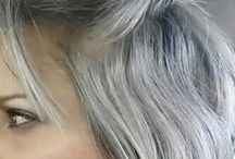Going gorgeously grey... / I've gone grey and it's gorgeous...look at just how gorgeous grey hair is!