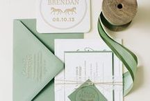 WEDDING STATIONARY / Wedding invitations, menus, save the date cards & all things related!