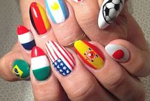world cup nails & nail art design tutorial by nded / world cup nails & nail art design tutorial by nded