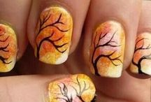 autumn nails & fall nail art design tutorial by nded / autumn nails & fall nail art design tutorial by nded
