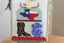 Finished Needlepoint / Finished needlepoint pieces created by our customers and employees of The Needle Works