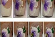 flower nail art tutorial & gallery by nded / flower nail art tutorial & gallery by nded