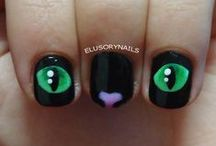 cute cat nail art designs by nded / cute cat nail art designs by nded