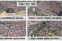 Zonas reparto / Trabajamos en los C.P 41001, 41002, 41003, 41004, 41005, 41007* (cercanias Avda Andalucia), 41008* (Santa Justa), 41010, 41011, 41012*(Reina Mercedes), 41013* (El porvenir), 41018, 41092 (Isla de la Cartuja)