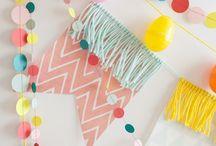 PENNANT / BANNER / Wil je graag styling advies, kom dan kijken op de website www.littledeer.nl #inspiratie #interieur #pennant #DIY #muurdecoratie #banner