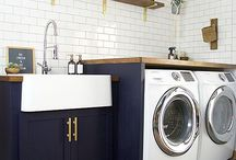 LAUNDRY ROOM / Wil je graag styling advies voor je keuken of eetkamer, kom dan kijken op de website www.littledeer.nl #washok #interieur #laundryroom #wassen