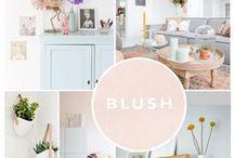 PROJECT ARNHEM / Moodboard voor een eetkamer en woonkamer, met warme tinten en elementen.