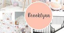 PROJECT BROOKLYNN / Project Brooklynn, een interieuradvies voor kinderkamer. #kinderkamer #slaapkamer #peach #zwartwit #meisjeskamer #meidenkast #hout #grijstinten