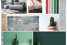 PROJECT AMSTERDAM / Project Amsterdam, een interieuradvies voor woonkamer en eetkamer. #woonkamer #eetkamer #groentinten #vleugje roze #vintage #zwartwit