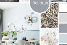 PROJECT DEBORAH / Project Deborah, een kleuradvies voor woonkamer en eetkamer. #woonkamer #eetkamer #behang #zwartwit