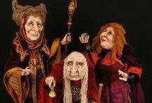 Sorcières au 1/12 ème / Miniatures au 1/12ème - Maisons de poupées Figurines miniatures * miniature figures Witches 1/12 th *