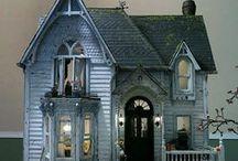 Maisons - Cottages & Manoirs hantés - Logis de sorcières / Miniatures au 1/12ème - Maisons de poupées  *  haunted houses, cottages bewitched, Haunted Manor and  Houses Witches *.
