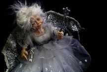 Les Fées au 1/12ème / Figurines Fées miniatures  Miniatures au 1/12ème  -  Maisons de poupées * Art dolls Fairies in miniature 1/12th *