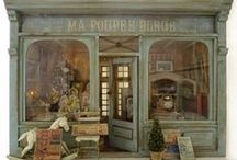 Boutiques - Magasins - Commerces  & Arrières Boutiques /  Intérieur & extérieur - Vitrines - Miniatures & Maisons de poupées au 1/12ème
