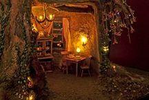 Logis Intérieurs pour Fées Elfes Lutins & Korrigans / Miniatures au 1/12ème *  Magical interiors in miniature1/12th *