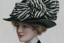 Accessories early 20th Century / Edwardian hats - shoes - fans - parasols