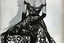 Fashion - 1950s Cocktail- and Evening Dresses / Vintage dresses, Fashion Photography, 50s fashion