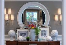 Mirror, art, styling, shelving. / Home  styling. / by Tina Fernandes