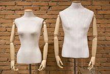 busto sartoriale con braccia in legno / busto sartoriale con braccia in legno e testa removibile