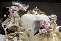 Animaux de contes de Fées / Sculptés, en laine cardée, modelés ou cousus  * Animals fairy tales *