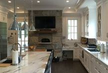 Kitchen Islands / Kitchen island ideas we love from materials to lighting to cabinetry in many design styles from traditional to transitional to modern.