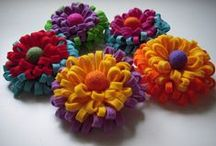 Felt flowers / цветы из фетра