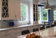 Transitional Kitchens / Maintaining some of the elements of traditional styling, transitional styling attempts to simplify the elements of the cabinetry, and streamline the look for a more calm, tailored look. The transition to contemporary can be gradual and restrained, but doesn't buy into all the elements of contemporary styling.