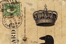 Print : Lettres, Cartes & Enveloppes / Papiers à lettres pour Sorcières - Imprimables à réduire pour miniature au 1/12ème et Maisons de poupées