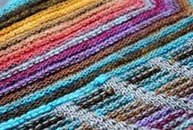 Colourful Shawls / Ideas for what you can do by pairing up single skeins, or with my custom-designed Rainbow Heirloom Trios!