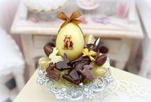 Pâques en miniature / Décorations et accessoires - Pâtisseries Chocolats et Sucreries - Miniatures & Maisons de poupées au 1/12ème