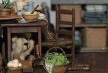 Cuisines & Arrières cuisines - Office / Intérieurs et Miniatures pour maisons de poupées au 1/12ème Meubles Objets et accessoires de cuisines