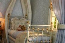 Chambres enfants & Nursery / Intérieurs - meubles et accessoires miniatures pour maisons de poupées au 1/12ème