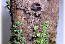 Tutos : Habitations pour lutins, fées & elfes / Maisons arbres au 1/12ème