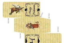 Print : Gabarits - Boites & sacs / Miniatures au 1/12ème - Maisons de poupées