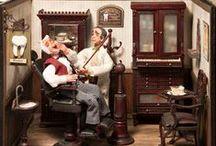 Cabinets : Médecins  - Vétérinaires & Dentistes / Miniatures au 1/12ème - Maisons de poupées