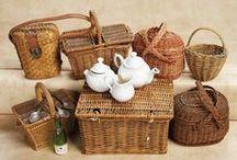 Paniers & Vanneries / Paniers : à linge - courses - Malles - pêche & Couffins - Miniatures au 1/12ème - Maisons de poupées